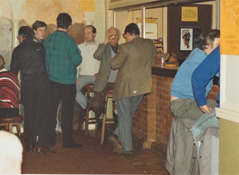 The photograph shows the Arts Centre bar at the Harrow Weald premises.